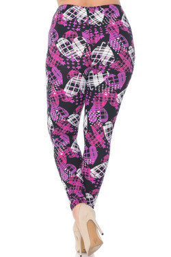 Buttery Soft Stars and Plaid Hearts Plus Size Leggings