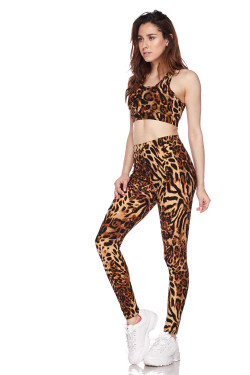 Buttery Soft Predator Leopard Leggings and Bra Set