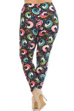 Buttery Soft Groovy Hip Unicorn Extra Plus Size Leggings - 3X-5X