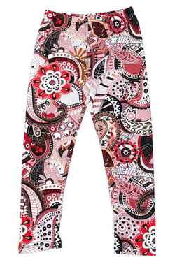 Buttery Soft Pink and Rose Paisley Kids Leggings