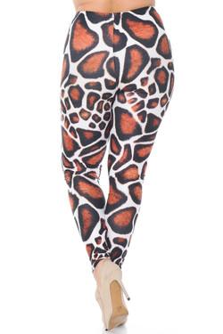 Creamy Soft Giraffe Print Extra Plus Size Leggings - 3X-5X - USA Fashion™