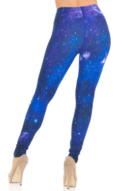 Creamy Soft Blue Galaxy Leggings - USA Fashion™