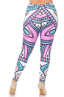 Creamy Soft Cute Mandala Extra Plus Size Leggings - 3X-5X - USA Fashion™