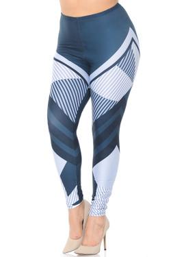 Creamy Soft Contour Angles Plus Size Leggings - USA Fashion™