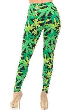 Buttery Soft Cannabis Marijuana Leggings - EEVEE