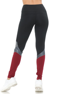 Sassy Sport Contour Mesh Color Block Workout Leggings