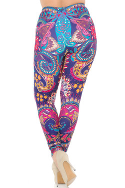 Creamy Soft Mandala Flowers Plus Size Leggings - USA Fashion™