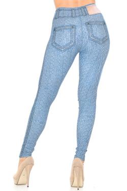 Creamy Soft Beautiful Blue Jean Leggings - USA Fashion™