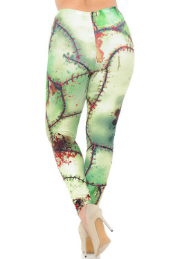 Creamy Soft Zombie Plus Size Leggings - USA Fashion™