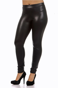 Premium Matte Faux Leather Leggings Plus Size