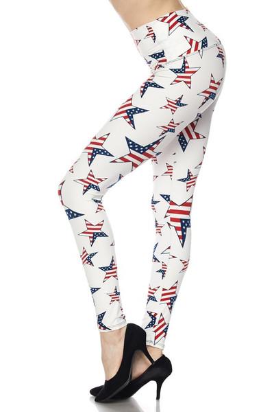 Ivory USA Flag High Waisted Leggings