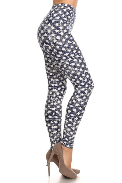 Rustic Star Plus Size Leggings - 3X-5X