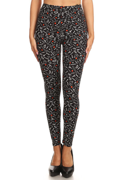Buttery Soft College Student Plus Size Leggings