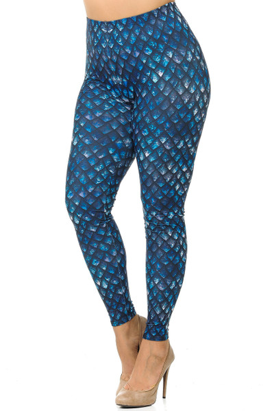 Creamy Soft Feral Mermaid Plus Size Leggings