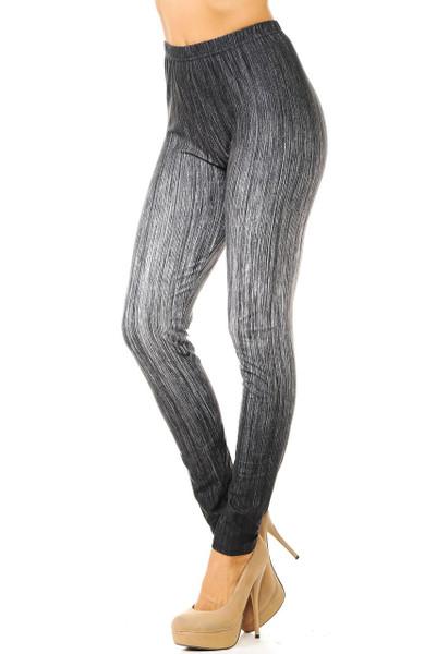 Creamy Soft Vintage Ombre Fade Leggings - Multi-Size