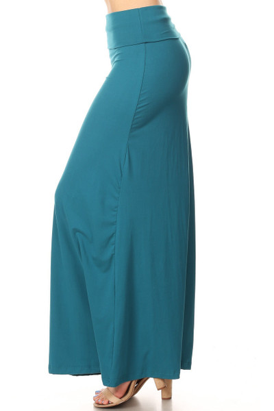 Buttery Soft Solid Teal Maxi Skirt
