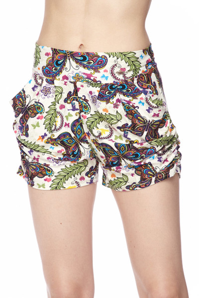 Buttery Soft Dainty Ivory Butterfly Shorts