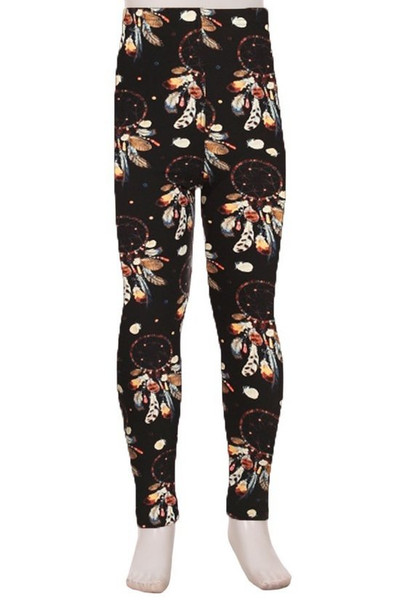 Buttery Soft Earthen Dream Catcher Kids Leggings