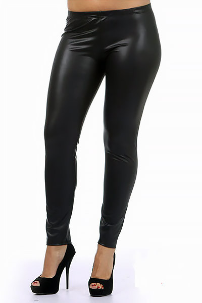 42bddceb9306a Plus Size Matte Faux Leather Leggings