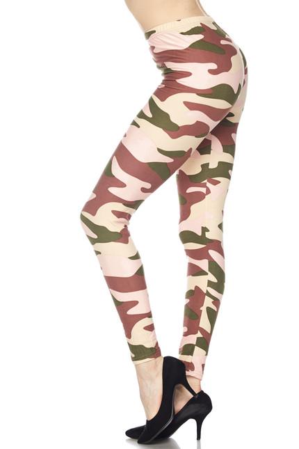 Neapolitan Camouflage Plus Size Leggings - 3x-5X