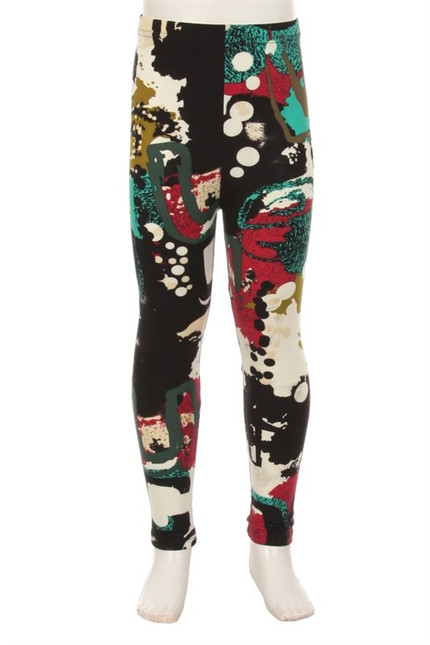 Buttery Soft Picasso in the Park Kid's Leggings