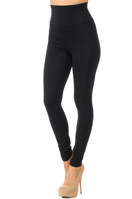 Black Front USA High Waisted Cotton Leggings