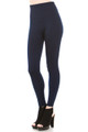 Navy High Waisted Banded Fleece Lined Leggings - Sizes 0 - 4