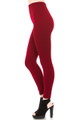 High Waisted Banded Fleece Lined Leggings - Sizes 0 - 4