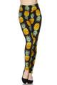 High Waisted Summer Pineapple Leggings