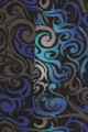 Close up fabric image of Blue Tangled Swirl Leggings