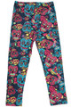 Buttery Soft Red and Blue Sugar Skull Kids Leggings