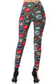 Buttery Soft Groovy Bottlecap Plus Size Leggings
