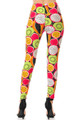 Buttery Soft Colorful Tropical Fruit Plus Size Leggings - 3X-5X