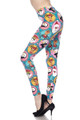 Buttery Soft Cute Christmas Faces Plus Size Leggings