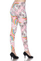 Buttery Soft Pink Rainbow Unicorn Plus Size Leggings - 3X - 5X