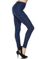 Buttery Soft Distressed Blue Leggings