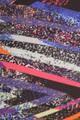 Close up fabric image of Buttery Soft Colorful Bands Plus Size Leggings - 3X-5X