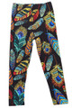 Buttery Soft Florid Feathers Kids Leggings