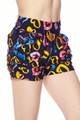 Buttery Soft Colorful Watercolor Hearts Shorts