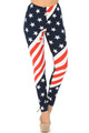 Buttery Soft Swirling USA Flag Leggings