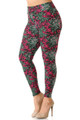 Buttery Soft Fuchsia Tangled Swirl High Waisted Plus Size Leggings