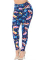 Buttery Soft Retro Campers Extra Plus Size Leggings - 3X-5X