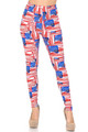 Buttery Soft Watercolor USA Flag Plus Size Leggings