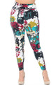 Buttery Soft Summer Picasso High Waisted Plus Size Leggings