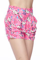 Buttery Soft Pink Puppy Dogs Harem Shorts
