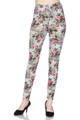 Buttery Soft Floral Rose Mirage Extra Plus Size Leggings - 3X-5X