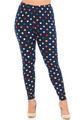 Buttery Soft Colorful Polka Dot Plus Size Leggings