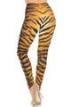 Creamy Soft Tiger Print Extra Small Leggings - USA Fashion™