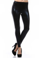 Shiny Faux Leather Leggings