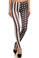 Monotone Split USA Flag Leggings